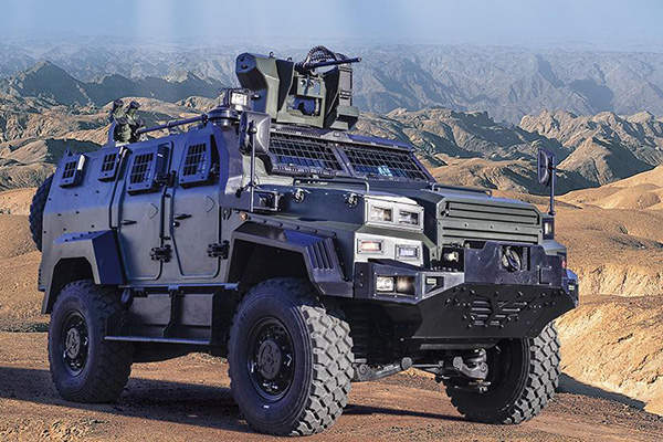 Ejder Yalçın is a 4x4 tactical armoured combat vehicle. Image courtesy of Nurol Makina.