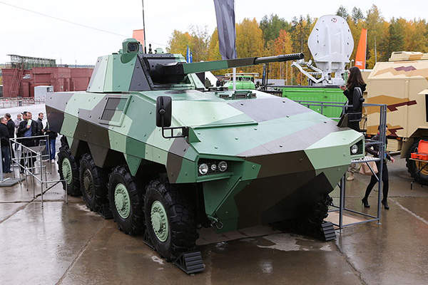 The ATOM infantry fighting vehicle (IFV) was unveiled at the Russian Arms Expo (RAE) in September 2013. Image: courtesy of Alexey Kitaev.