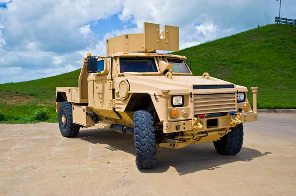 The Lockheed Martin Joint Light Tactical Vehicle (JLTV).