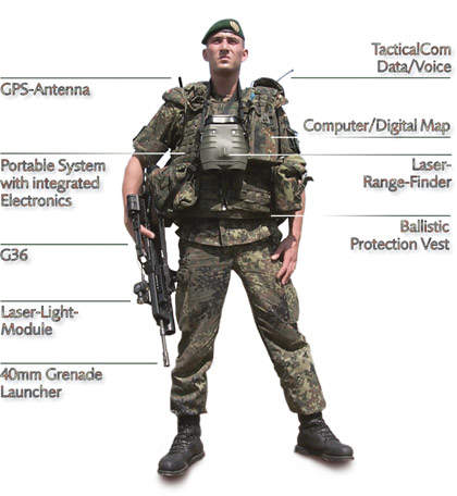 Elements of the IDZ infantry of the future system