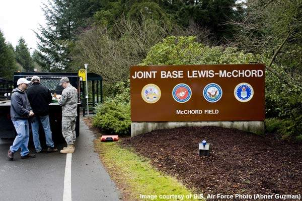 Joint Base Lewis-McChord (JBLM) is an army base located in Pierce and Thurston counties, Washington.