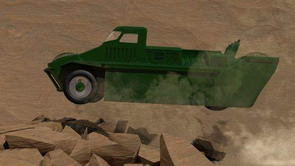 The Jumping Jeep could literally jump over enemy lines