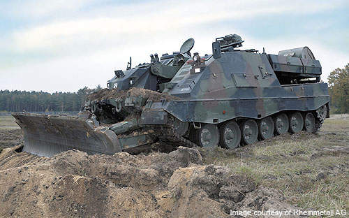 The AEV3 Kodiak, launched by the name Geniepanzer in Switzerland, is an armoured engineering and mine clearance tank that can meet the technical and tactical needs of modern day armed forces.