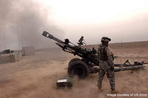 The M119 provides fire support for combined arms operations. Credit: US Army.