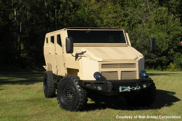 The MDT Tiger light protected vehicle (LPV) is a mine protected light all-terrain vehicle manufactured by the Arotech Corporation's MDT Armor Division.