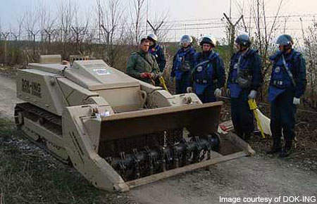 DOK-ING MV-4 is specifically designed for humanitarian de-mining tasks.