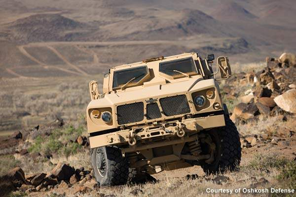 Oshkosh Defense teamed with Plasan North America for the M-ATV armour system to provide superior crew protection.