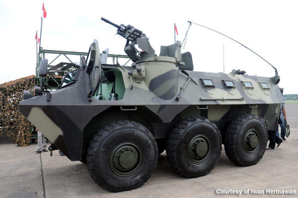 The Panzer APS 6×6 was designed, engineered and developed by PT Pindad, who also provides the maintenance for the vehicle.