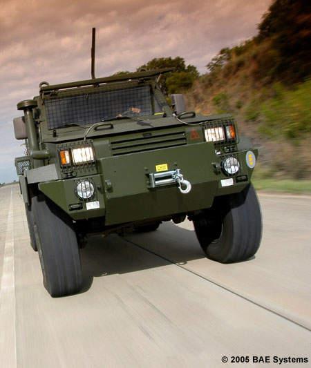 The RG32M mine hardened armoured patrol vehicle.