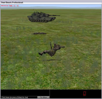 Screen capture of military training software developed by Calytrix