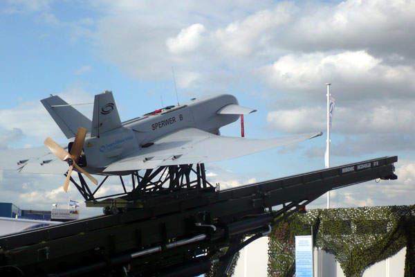Sperwer B on launch platform
