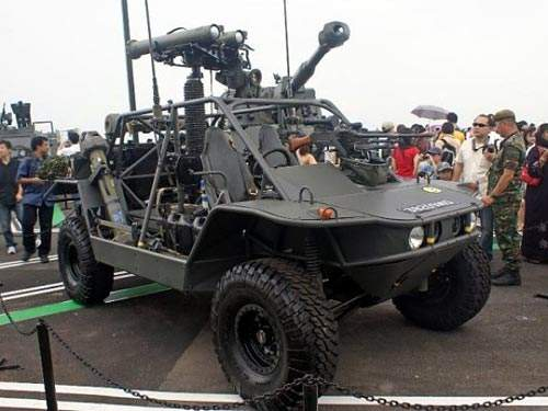 The Spider vehicle can be configured in various ways, but the SRAM is the favoured one.