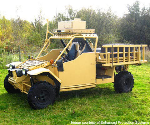 The Springer is an all-terrain vehicle developed for the UK Army by UK-based Enhanced Protection Systems.