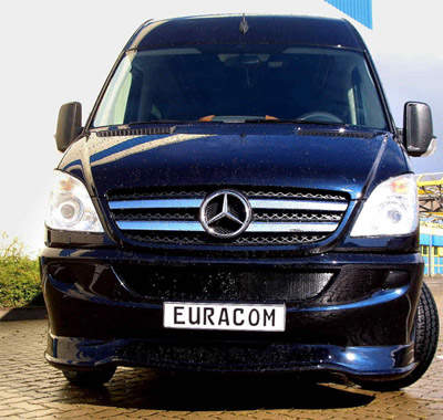 Image of an armoured Mercedes vehicle from EURACOM
