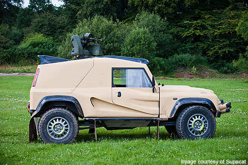 The Wildcat is an air transportable light armoured military vehicle being designed and built jointly by UK based motorsport company QT Services and terrain vehicle manufacturer Supacat.