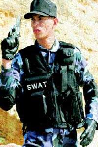 SWAT Officer Wearing Body Armour