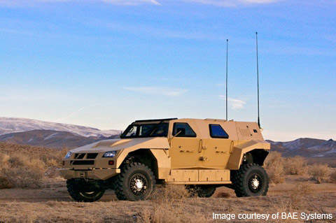 The BAE Systems Valanx concept joint light tactical vehicle prototype.