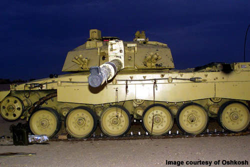 The 1070F can move one 72t Challenger II tank or two 36t self-propelled guns.