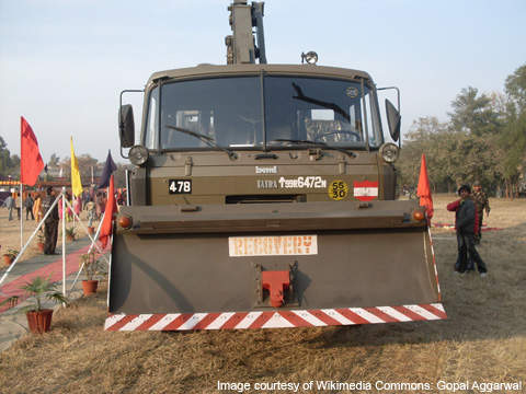 A Tatra heavy duty truck (all-terrain vehicle) delivered to the Indian Army.