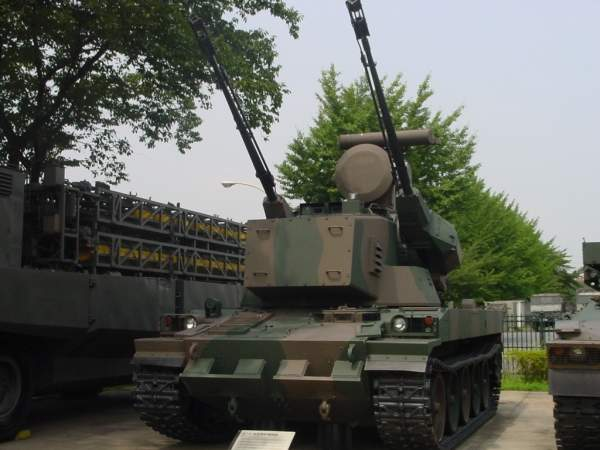 The Type 87 self-propelled anti-aircraft gun system of the Japan Ground Self-Defence Forces (JGSDF). Image courtesy of vok.