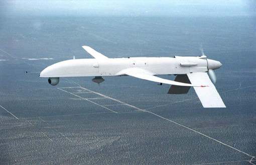 The US Army's IGNAT-ER extended range unmanned air vehicle.