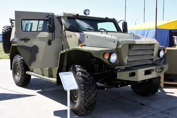The Volk family of high-mobility multipurpose armoured vehicles are being developed by the Voenno-Promyshlennaya Kompaniya (VPK). Image courtesy of Vitaly Kuzmin.