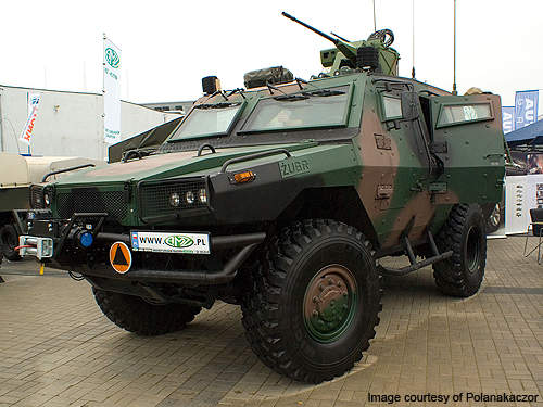 Zubr is a wheeled armoured personnel carrier developed by AMZ-Kutno for the Polish Army.