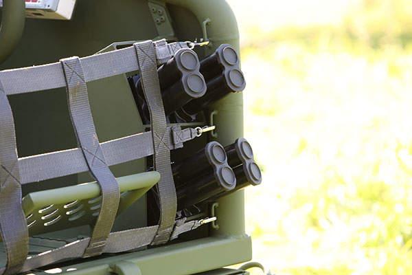 The smoke grenade launchers on SOV offer passive protection against threats. Image: courtesy of Krauss-Maffei Wegmann (KMW).