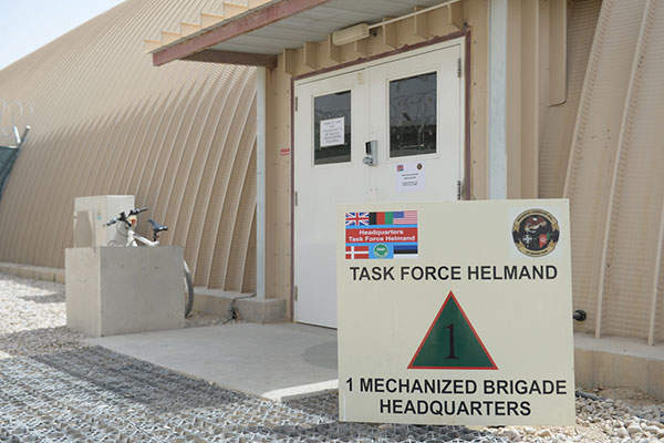 The Task Force Helmand unit was moved to new headquarters at Camp Bastion in August 2013. Image courtesy of Sergeant Barry Pope, Crown copyright.