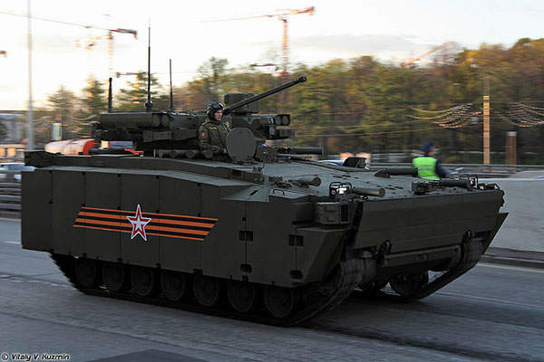 The Kurganets-25 infantry fighting vehicle was unveiled in May 2015. Image: courtesy of Vitaly V Kuzmin.