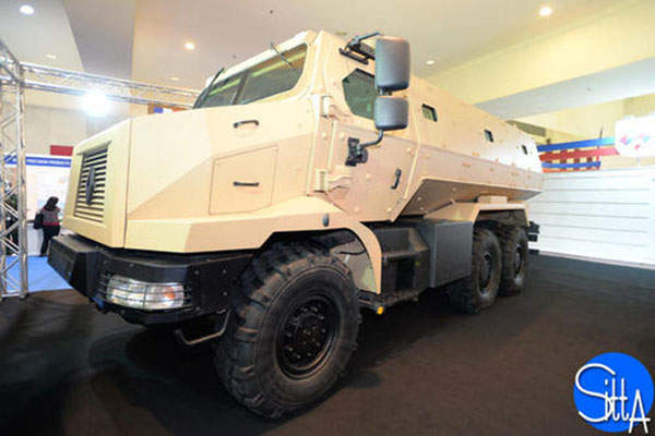 The Higuard mine-resistant, ambush-protected vehicle is designed and built by Renault Trucks Defense. Image: courtesy of Copyleft.