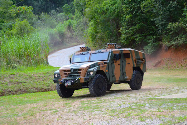 The TUPI 4x4 light armoured vehicle is the result of a joint development between Avibras and Renault Trucks Defense. Image courtesy of Avibras.