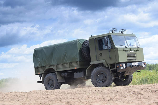 The MZKT-500200 tactical truck is manufactured by Belarusian OJSC Minsk Wheeled Tractor Plant (MZKT). Image courtesy of MWTP.