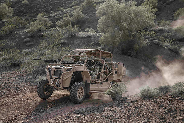 Polaris MRZR 4 off-road vehicle can operate across most difficult terrains. Image courtesy of Polaris Industries Inc.