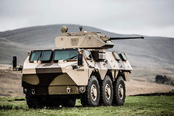 The VAB Mk3 infantry combat vehicle variant with CMI Defence Cockerill CPWS 25 turret was exhibited during the Eurosatory 2014. Image courtesy of CMI Groupe.