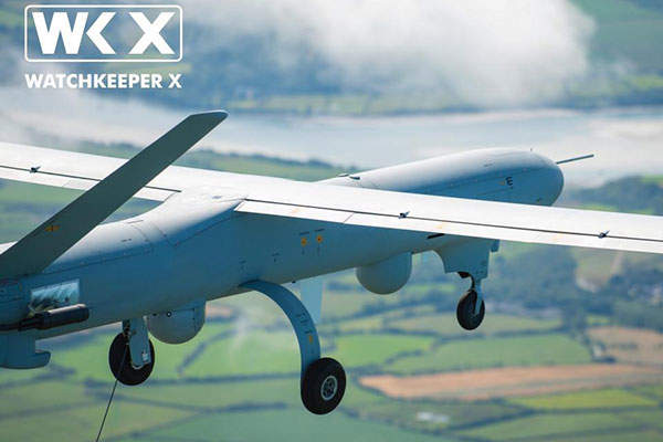 The Watchkeeper X unmanned aircraft system was launched in September 2015. Image: ©Richard Seymour_Thales.