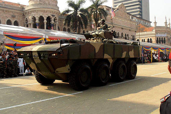 The AV8 wheeled armoured vehicle seen during National Day Parade of 2013 in Malaysia. Image courtesy of Rizuan.