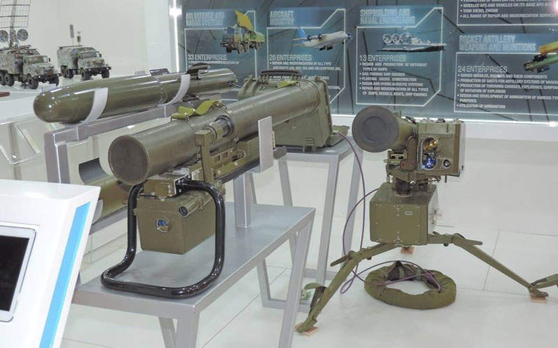 The Corsar anti-tank missile system is developed State Kyiv Design Bureau 'Luch'.