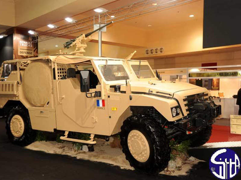 The Sherpa Light Special Forces 4x4 vehicle is produced by Renault Trucks Defense. Image courtesy of Ministry of Defense.