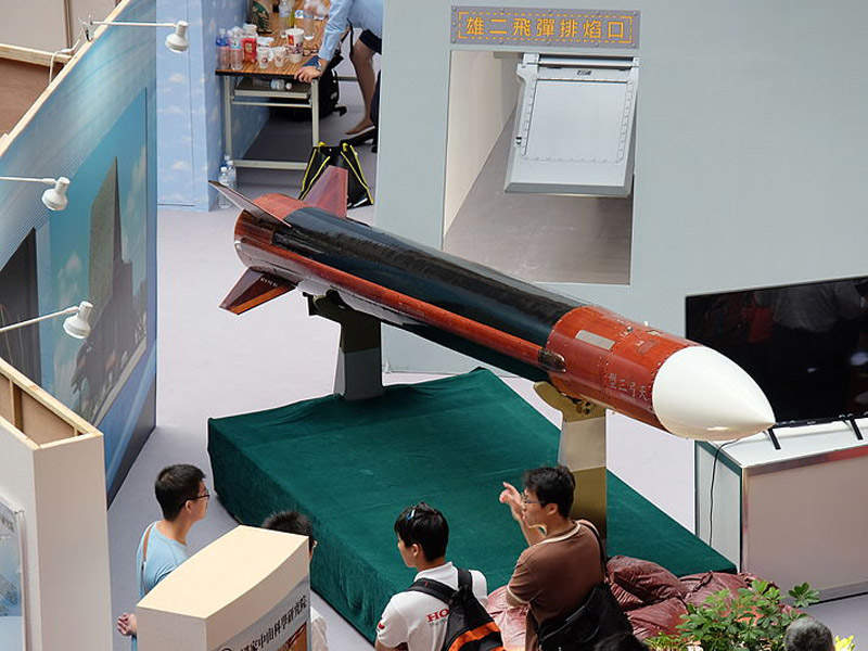 The Tien-Kung III surface-to-air missile is developed by National Chung-Shan Institute of Science and Technology. Image courtesy of Hyun Fumio (Chinese: 玄史生).