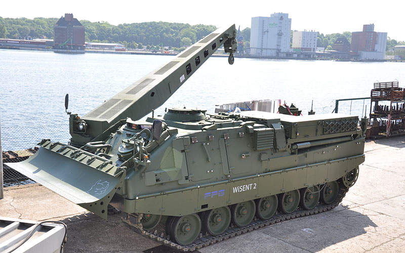 WISENT 2 armoured support vehicle is based on the chassis of Leopard 2 MBT.