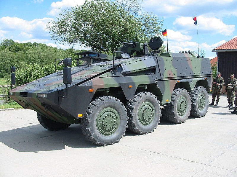 The first Cargo variant of the Boxer vehicle was delivered to the Royal Netherlands Army in March 2016.