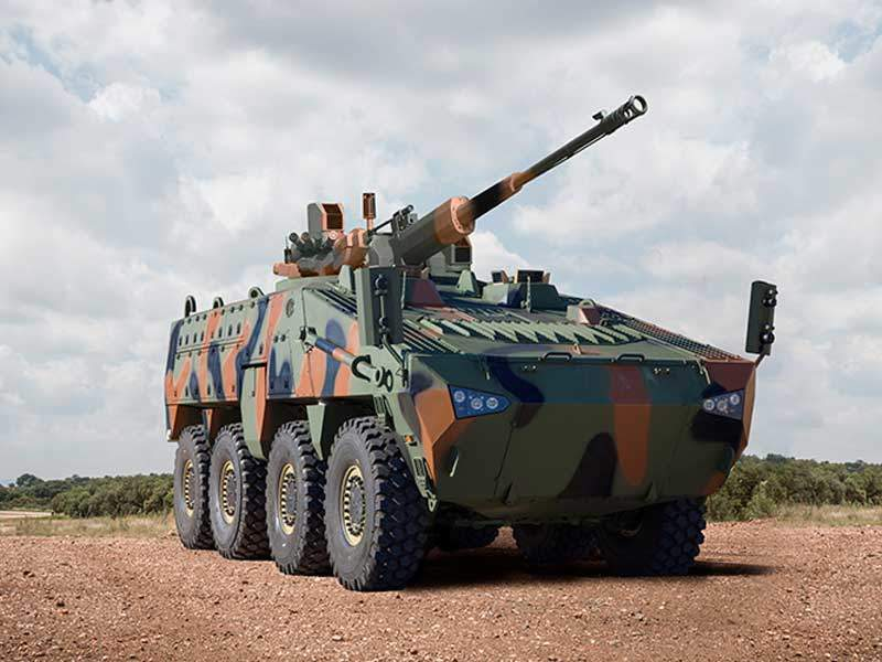 The Mbombe 8 multi-role combat vehicle has a road speed of 110km/h. Image courtesy of Paramount Group.