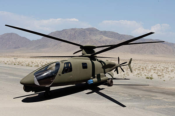 The S-97 Raider from Sikorsky is an armed reconnaissance helicopter. Copyright Sikorsky Aircraft Corporation. All rights reserved.