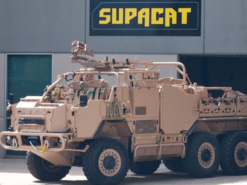 HMT Extenda is a high-mobility vehicle developed by Supacat. Image courtesy of Supacat.