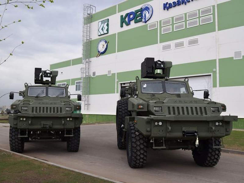 The Arlan 4x4 multi-role armoured vehicles are produced by Kazakhstan Paramount Engineering. Image courtesy of JSC NC Kazakhstan Engineering.