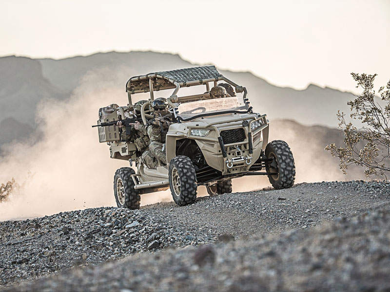 MRZR-D4 is a new diesel-powered version of MRZR 4 vehicle. Image courtesy of Polaris Industries Inc.