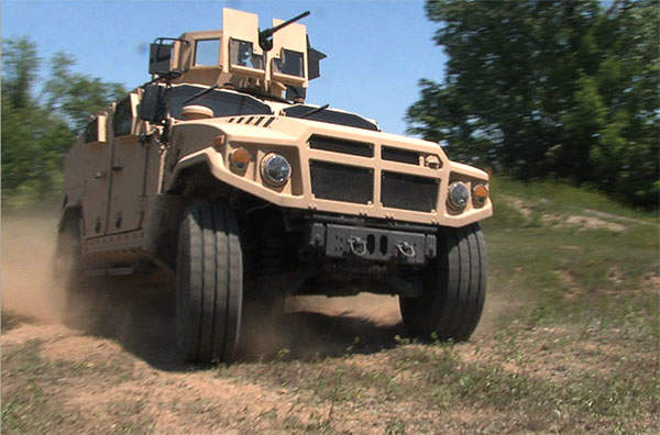 BRV-O (Blast-Resistant Vehicle - Off Road) from AM General is one the main contender for the Joint Light Tactical Vehicle (JLTV) programme.