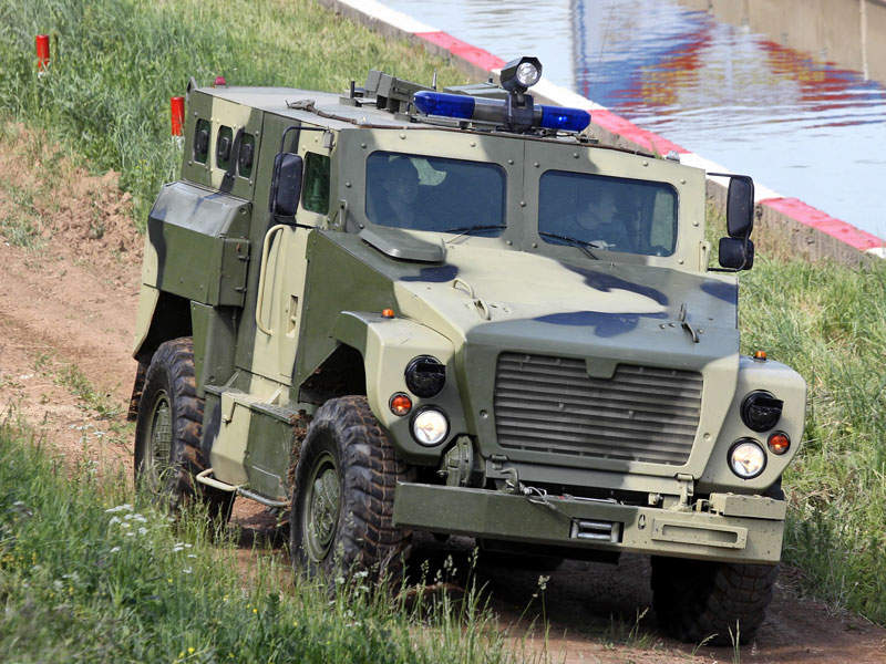 The SPM-3 Medved 4x4 mine-protected armoured vehicle is manufactured by Military Industrial Company. Image courtesy of Vitaly V. Kuzmin.