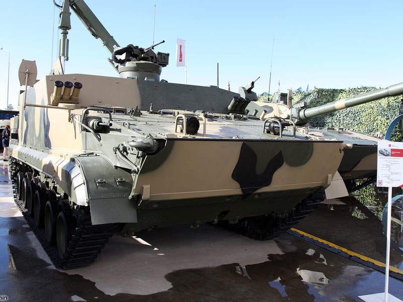 The new BT-3F tracked amphibious infantry fighting vehicle took part in the Army-2016 exhibition in Russia. Image courtesy of Vitaly V. Kuzmin.